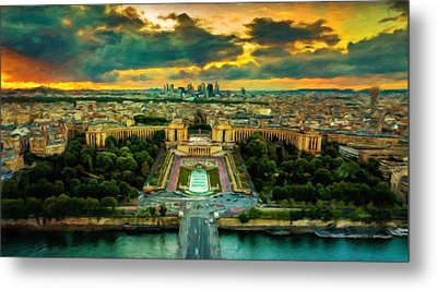 Paris Landscape Metal Print by Vincent Monozlay