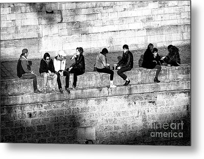 Paris Youth Metal Print by John Rizzuto