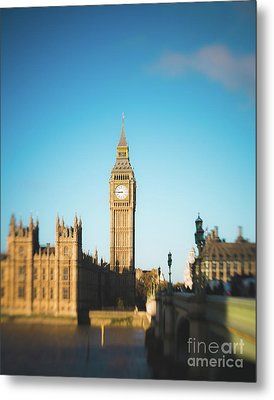 Parliament Blur Metal Print by Sonja Quintero