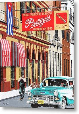 Partagas Cigar Factory Havana Cuba Metal Print by Miguel G