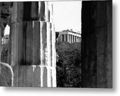 Parthenon From The Temple Of Hephaistos Athens Metal Print by Susan Chandler