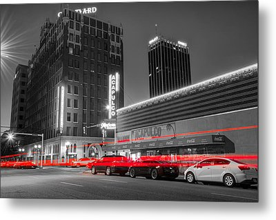 Passing Through - Amarillo Texas - Selective Coloring Metal Print