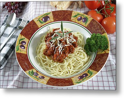 Pasta Dish With Meat Sauce Metal Print by Jack Dagley