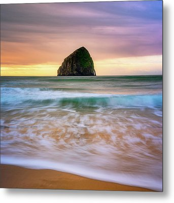 Pastel Morning At Kiwanda Metal Print by Darren White