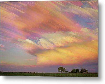 Metal Print featuring the photograph Pastel Painted Big Country Sky by James BO Insogna