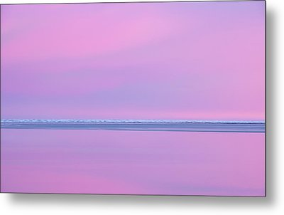 Pastel Shades Of An Icelandic  Winter Sunset. Metal Print by Andy Astbury