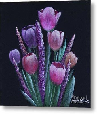 Pastel Tulips Metal Print