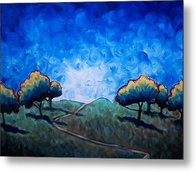 Path Through Las Trampas Metal Print by Sheila Tajima
