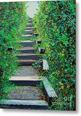 Pathway To Puget Sound Metal Print by Stephen Ponting