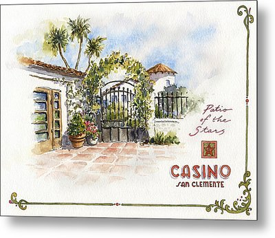 Patio Of The Stars At The Casino Metal Print