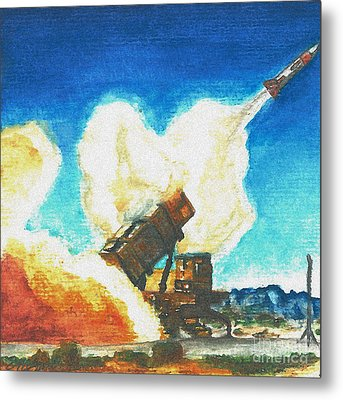 Patriot Fire Metal Print by Erin Smith