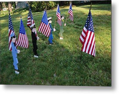 Patriotic Lawn Ornaments Represent Metal Print by Stephen St. John