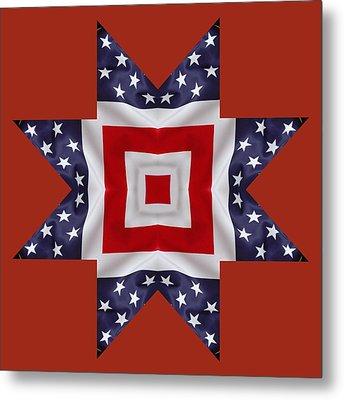 Patriotic Star 1 - Transparent Background Metal Print
