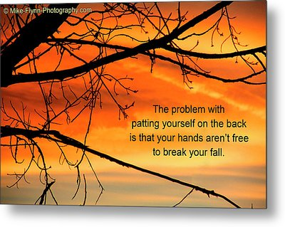 Patting Yourself On The Back Metal Print