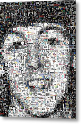 Paul Mccartney Beatles Mosaic Metal Print by Paul Van Scott