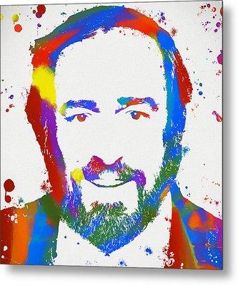 Pavarotti Colorful Paint Splatter Metal Print