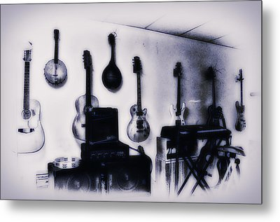 Pawn Shop Guitars Metal Print by Bill Cannon
