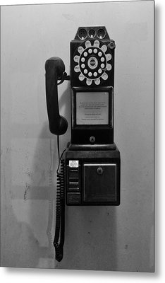 Metal Print featuring the photograph Pay Phone by Bradford Martin