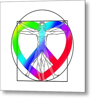 Peace, Love And Hope To Mankind Metal Print