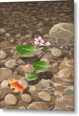 Metal Print featuring the painting Peace And Quiet by Veronica Minozzi