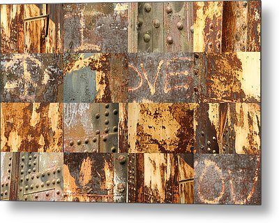 Peace I Love You Metal Print