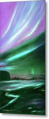 Peace Is Colorful 2 - Vertical Painting Metal Print