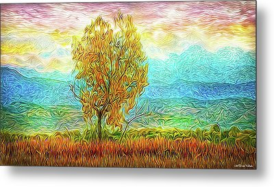 Peace Tree Sunset Metal Print by Joel Bruce Wallach