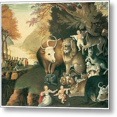 Peaceable Kingdom Metal Print