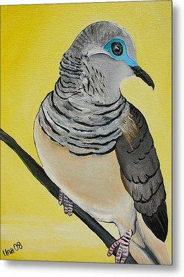 Peaceful Dove  Metal Print by Una  Miller