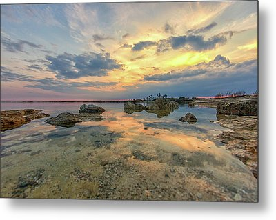 Peaceful Evening Metal Print by Stelios Kleanthous