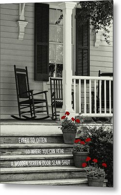 Peaceful Quote Metal Print by JAMART Photography