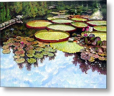 Peaceful Refuge Metal Print by John Lautermilch