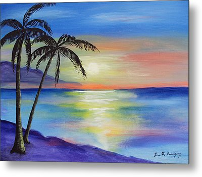 Peaceful Sunset Metal Print by Luis F Rodriguez