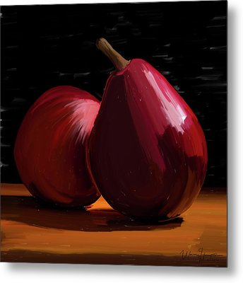 Peach And Pear 01 Metal Print by Wally Hampton