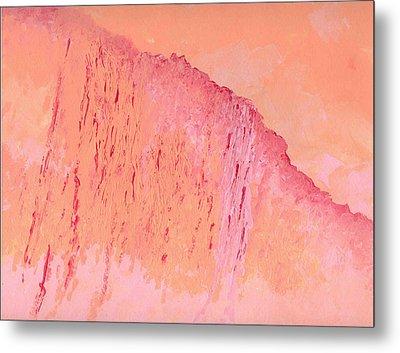 Peach And Pink Metal Print by Helene Henderson