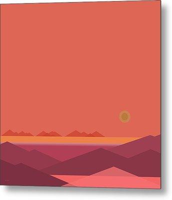 Peach Dawn Metal Print