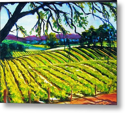 Peachy Canyon Vines Metal Print by Therese Fowler-Bailey