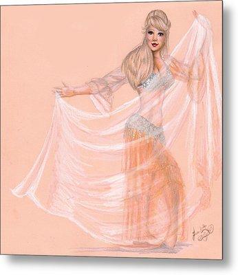 Peachy Dancer Metal Print by Scarlett Royal