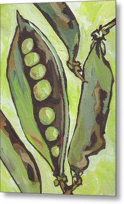 Peas Metal Print by Sandy Tracey