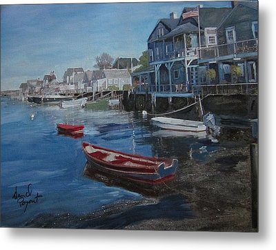 Peaseful Harbor Metal Print by David Poyant