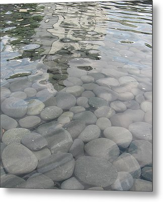 Metal Print featuring the photograph Pebbles by Nancy Dole McGuigan