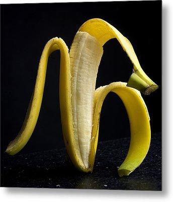 Peeled Banana. Metal Print by Bernard Jaubert