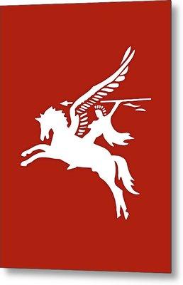 Pegasus In War Metal Print