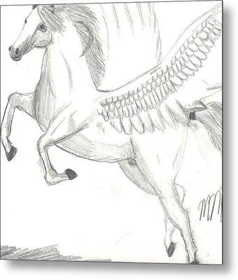 Pegasus Metal Print by Maddi Pollihan
