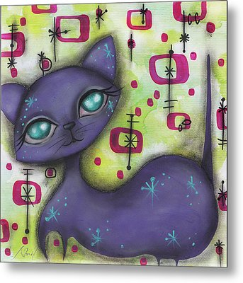 Peggy Cat Metal Print by Abril Andrade Griffith