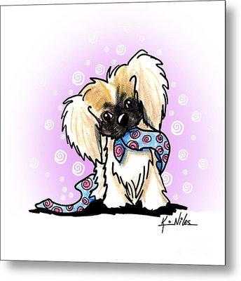 Pekingese Puppy Metal Print by Kim Niles