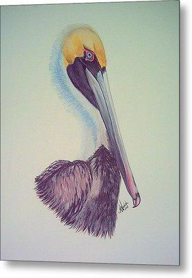 Pelican Prince Metal Print