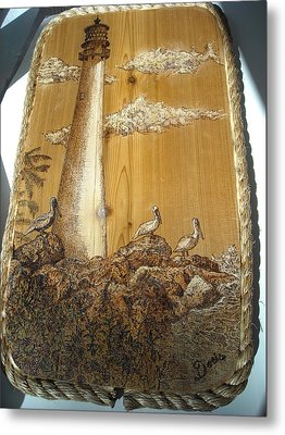 Pelicans At Key Biscayne Metal Print by Doris Lindsey