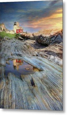 Pemaquid Lighthouse Metal Print by Lori Deiter