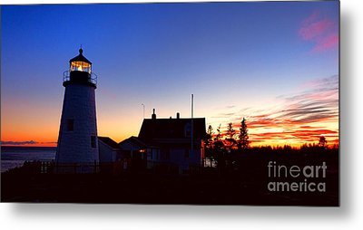 Pemaquid Point Evening Metal Print by Olivier Le Queinec